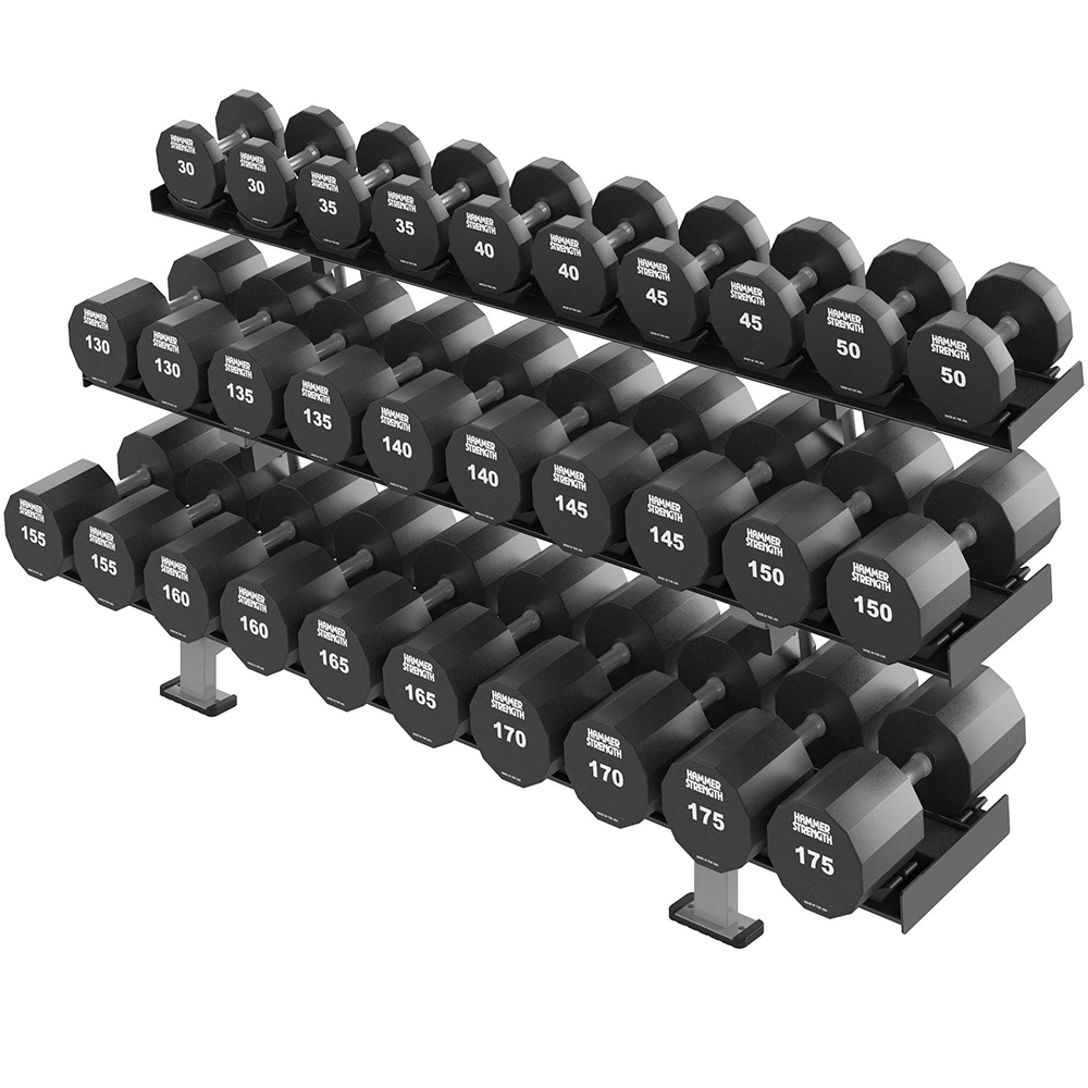 HAMMER STRENGTH THREE TIER DUMBBELL RACK