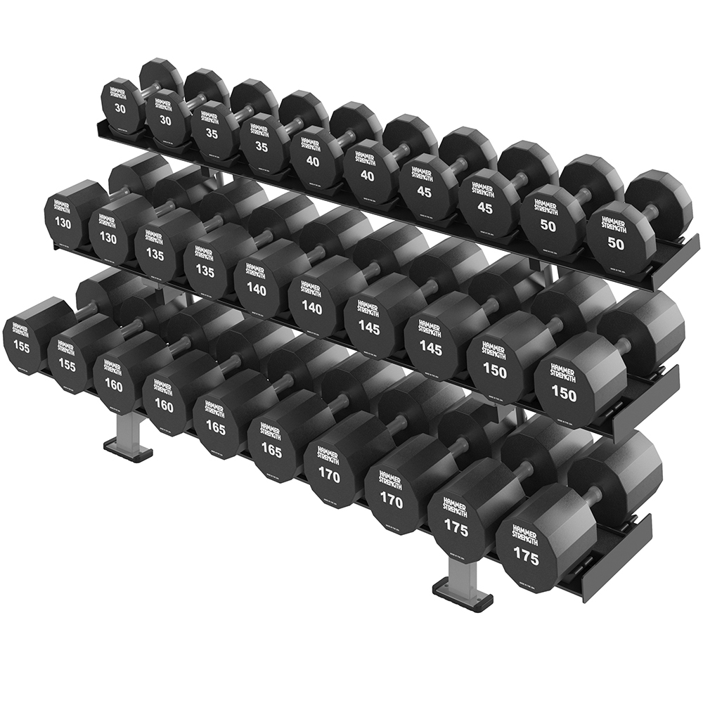 HAMMER STRENGTH THREE TIER XL DUMBBELL RACK