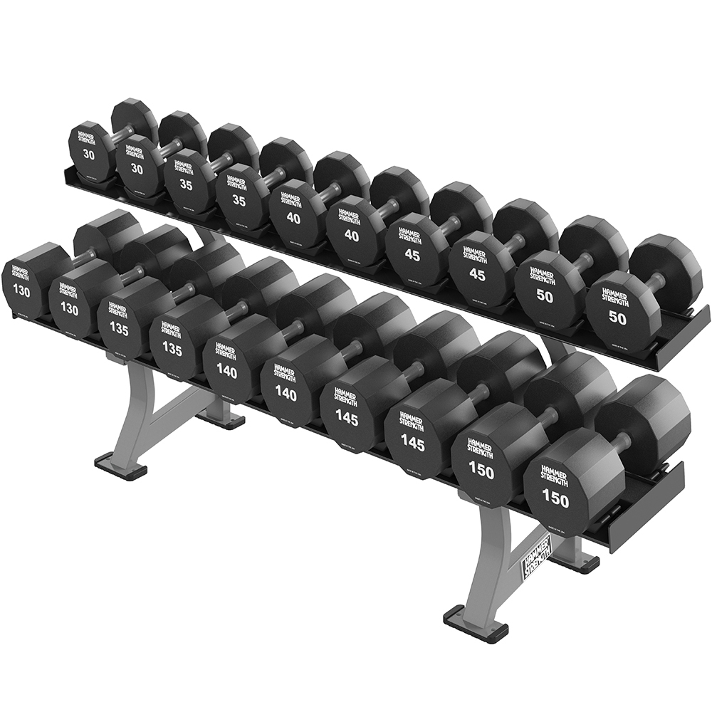 HAMMER STRENGTH TWO TIER XL DUMBBELL RACK