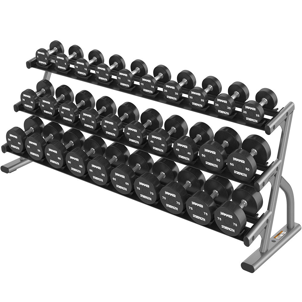 OPTIMA 3 TIER LONG DUMBBELL RACK