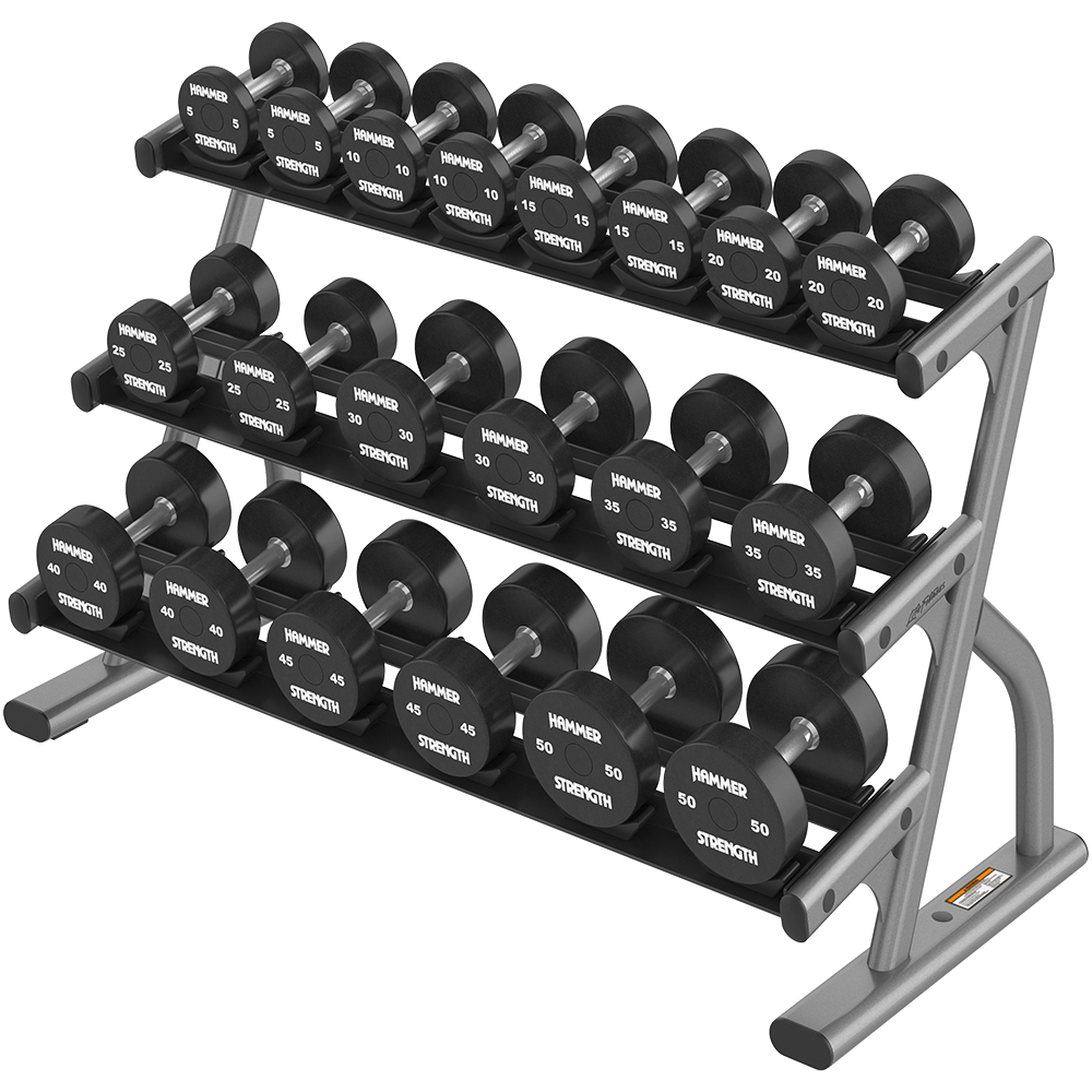 OPTIMA 3 TIER SHORT DUMBBELL RACK